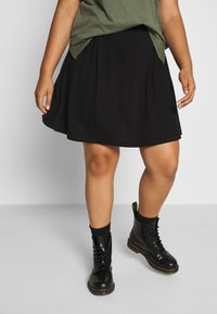 Even&Odd Curvy - Mini skirt - black - 0
