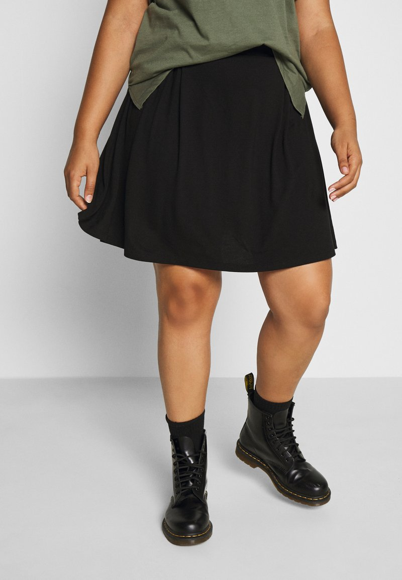 Even&Odd Curvy - Mini skirt - black
