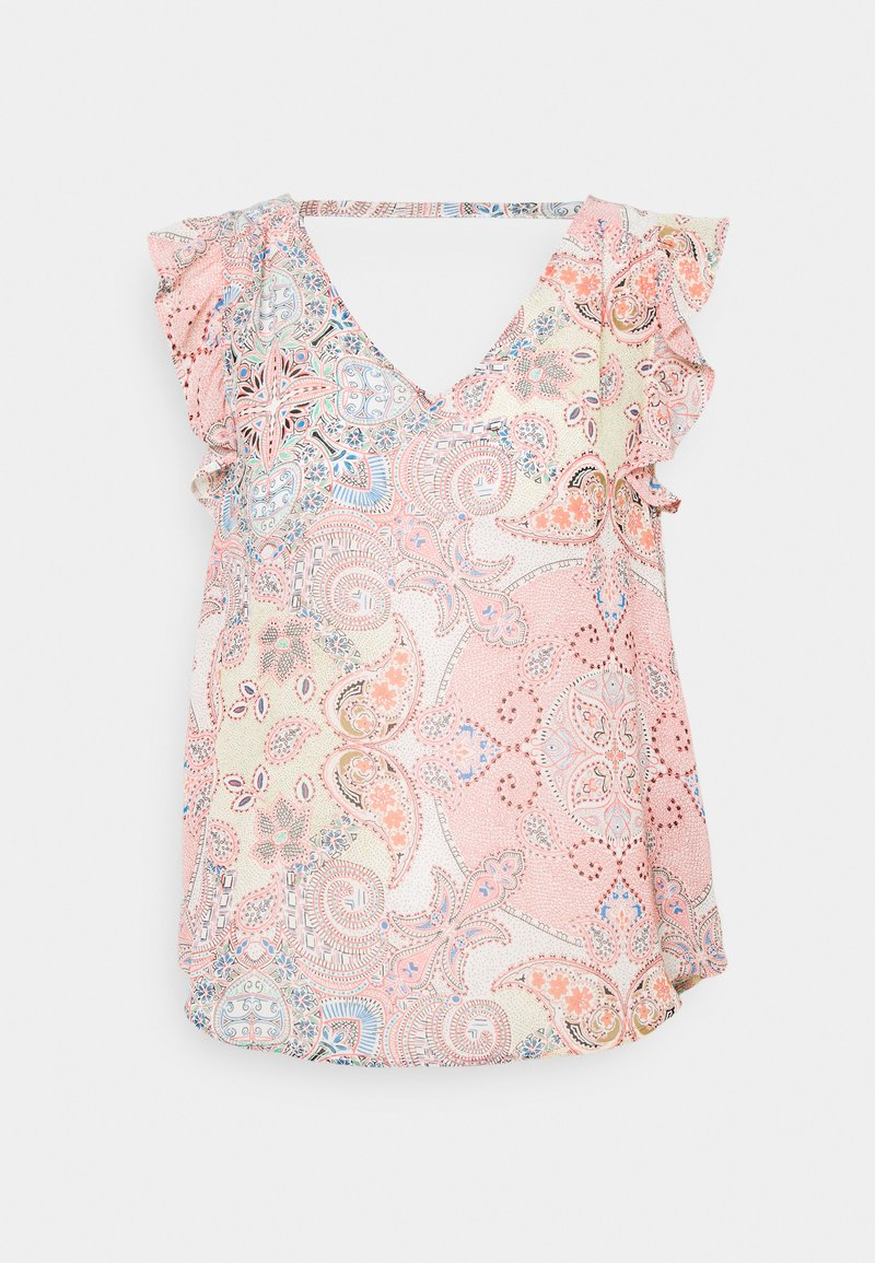 ONLY - ONLALLY CAPSLEEVE OPEN BACK - Topper - sugar coral