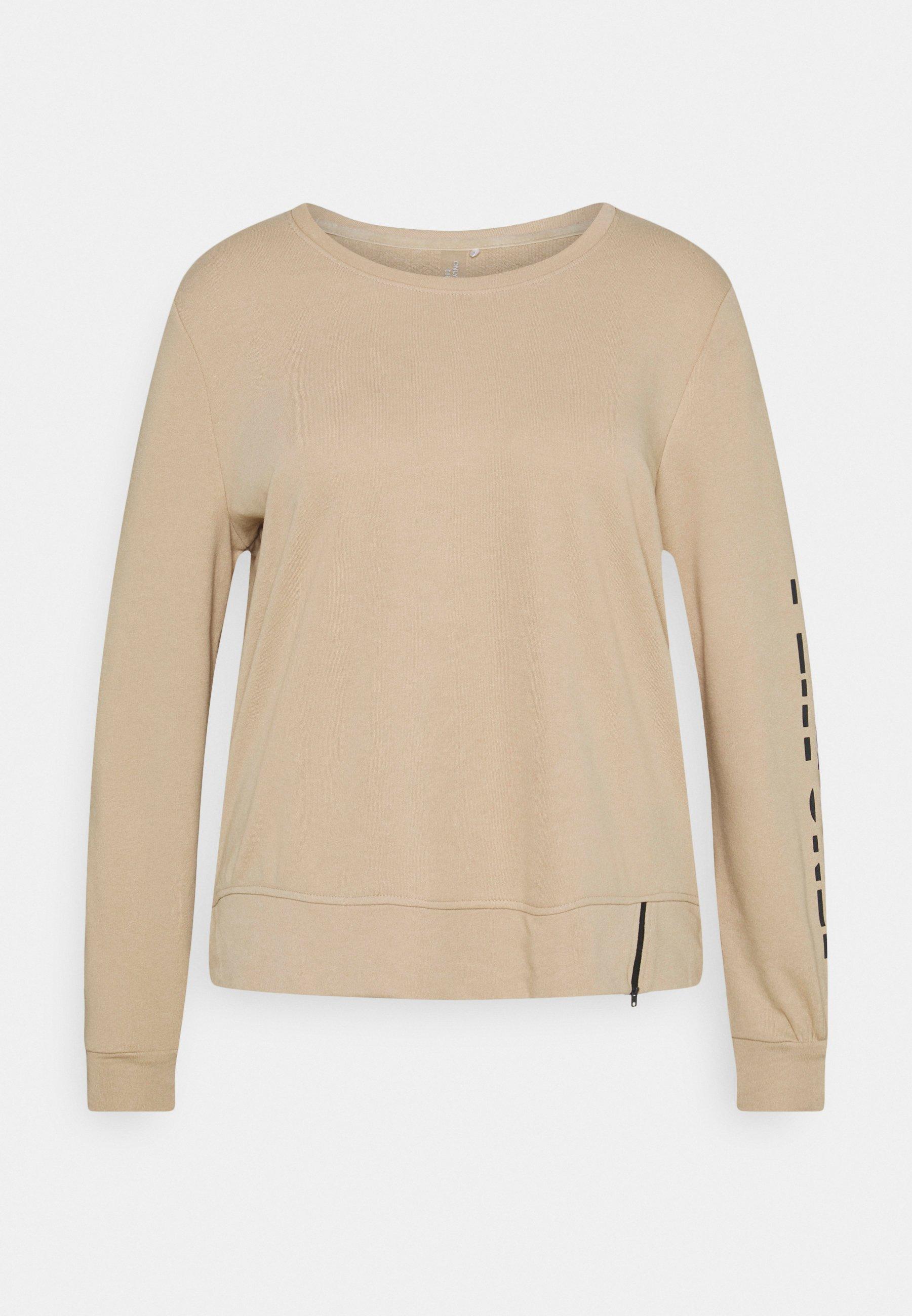 Women ONPJELLY O-NECK ZIP CURVY - Sweatshirt