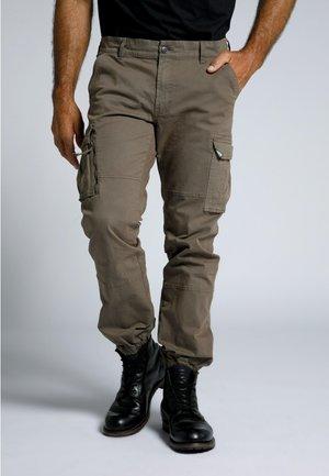 Cargo trousers - moka