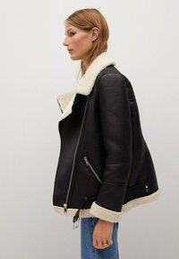 Mango - ADRI-I - Faux leather jacket - black - 4