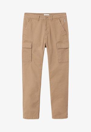 MOTO WINT - Pantaloni cargo - beige portabel
