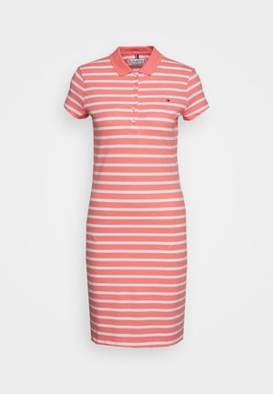 SLIM STRIPE POLO DRESS - Day dress - breton watermelon/white