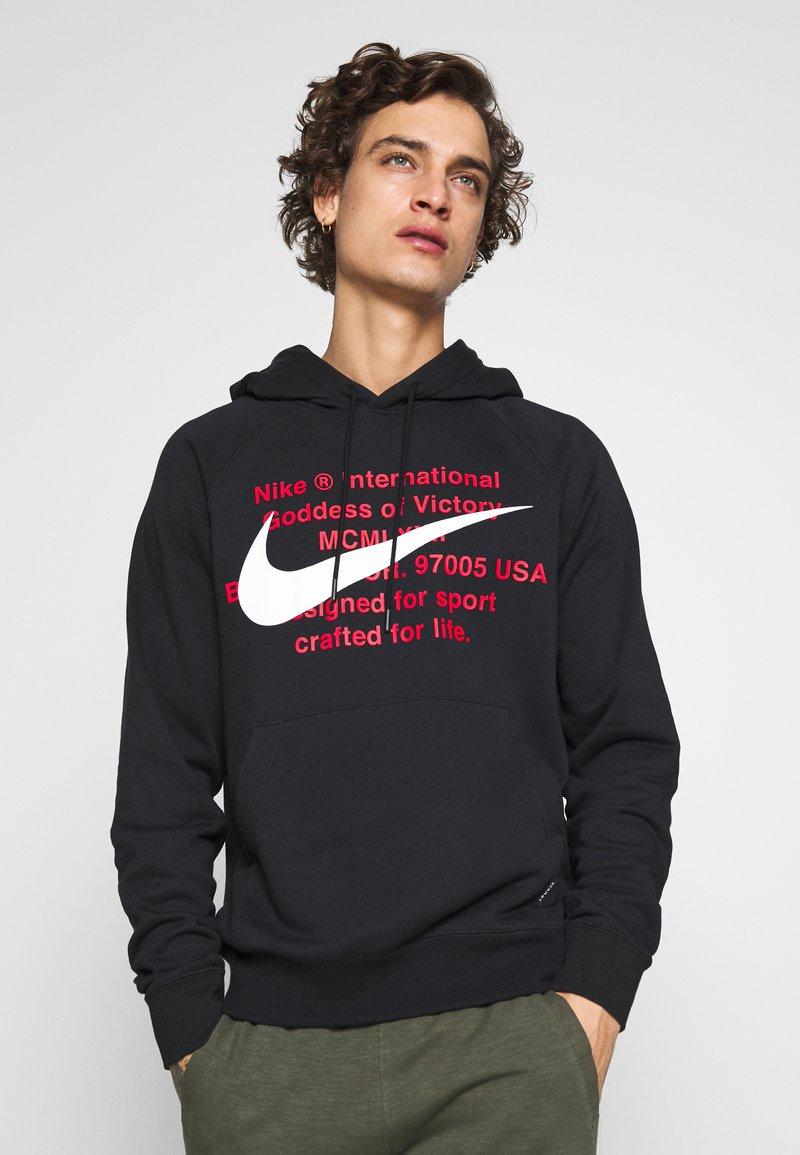 Nike Sportswear - HOODIE - Hoodie - black/white