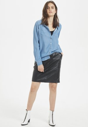 Button-down blouse - light denim blue