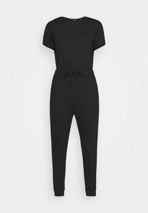 DRAWSTRING JOGGER CUFF - Jumpsuit - black