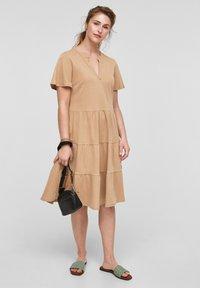 s.Oliver - Day dress - beige - 1