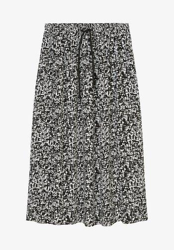 A-line skirt - multi black