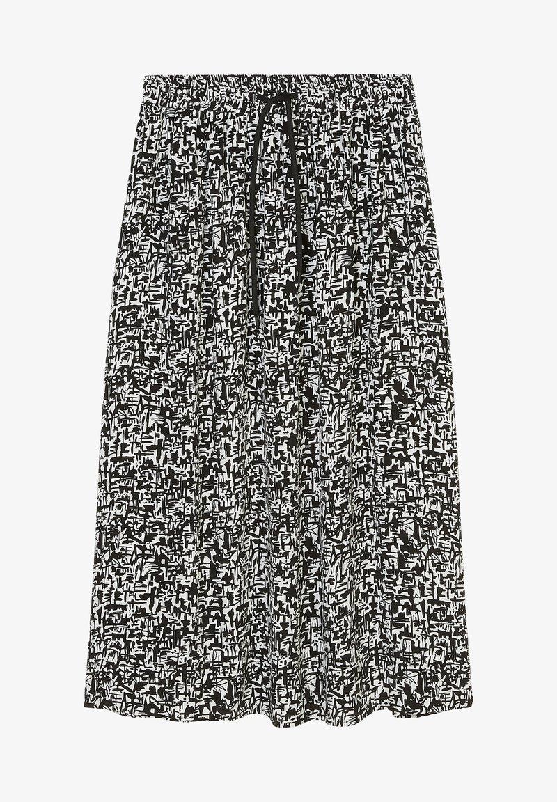 Marc O'Polo DENIM - A-line skirt - multi black