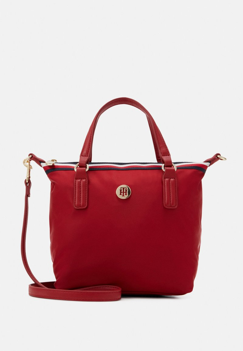 Tommy Hilfiger - POPPY SMALL TOTE CORP - Bolso de mano - red