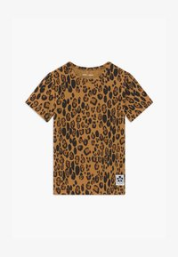 Mini Rodini - BABY BASIC LEOPARD TEE UNISEX - Print T-shirt - beige - 0