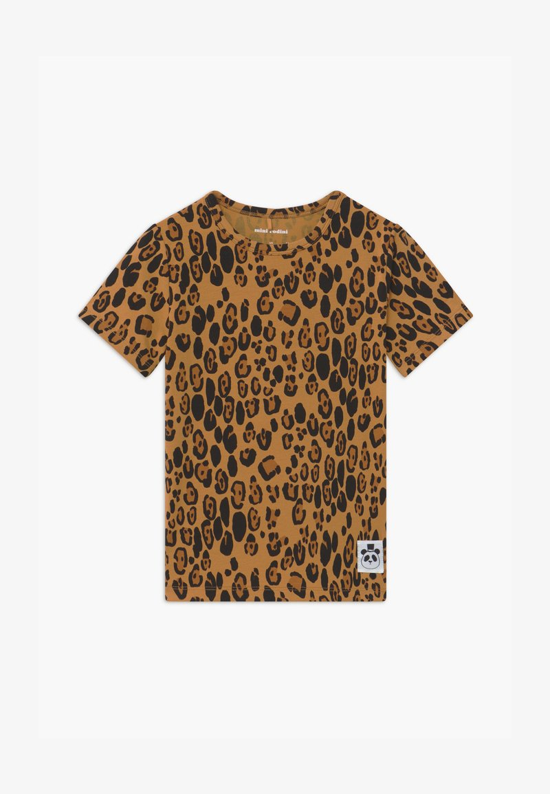 Mini Rodini - BABY BASIC LEOPARD TEE UNISEX - Print T-shirt - beige