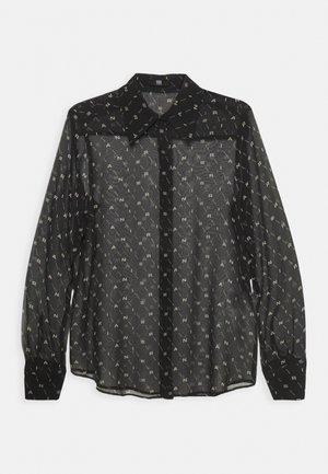 BLUSE - Blouse - black patterned