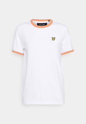 RINGER  - Print T-shirt - white/dusk orange
