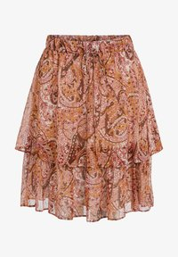 SET - MIT PRINT - Pleated skirt - red yellow - 5