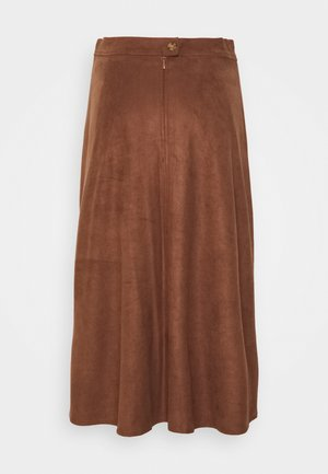 SKIRT - Áčková sukně - brown