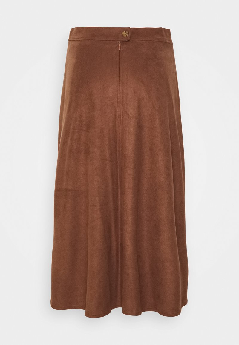 Esprit - SKIRT - Jupe trapèze - brown