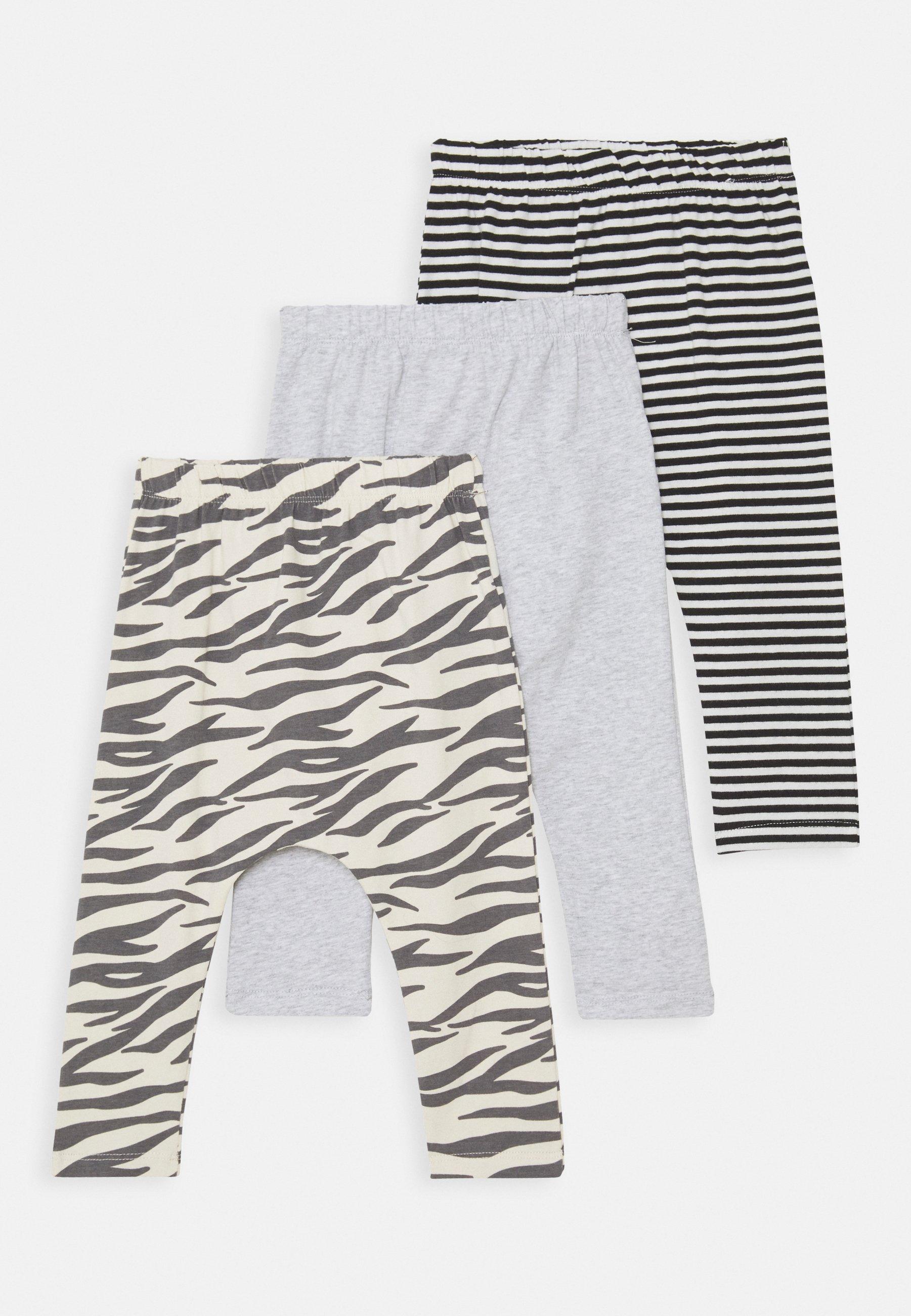 Kids 3 PACK - Leggings - Trousers - grey/cloud marle/black