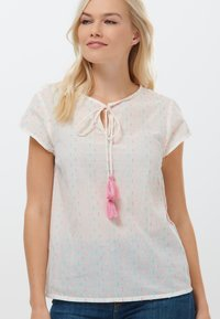 Sugarhill Brighton - MAGDA COLOUR FLECK - Print T-shirt - white - 0