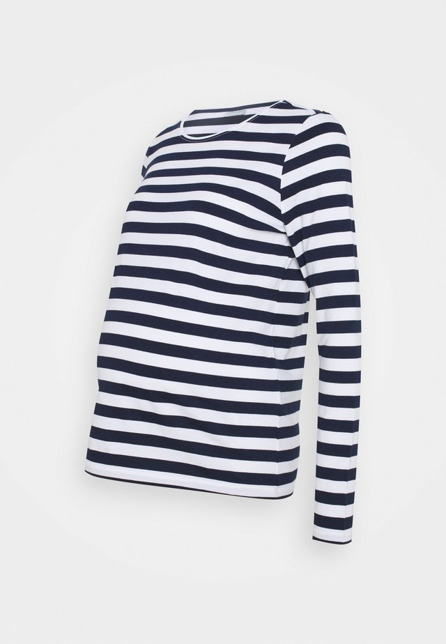PCMRIA NEW TEE - Long sleeved top - bright white/maritime blue