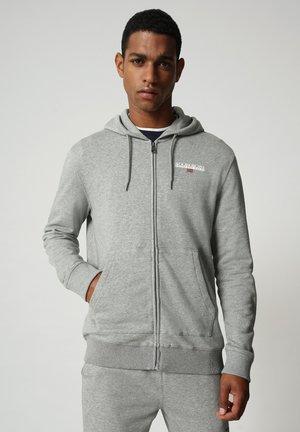B-ICE FULL ZIP HOOD - Sweat à capuche zippé - medium grey melange