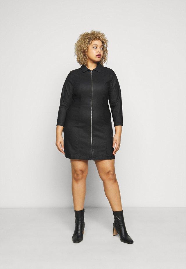 PCROXY ZIP COATED DRESS - Vestito estivo - black