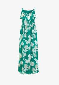 comma - Maxi dress - green big flowers - 5