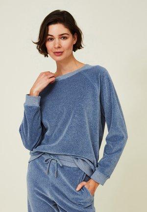 MARTHA VELOUR  - Sweatshirt - blue melange
