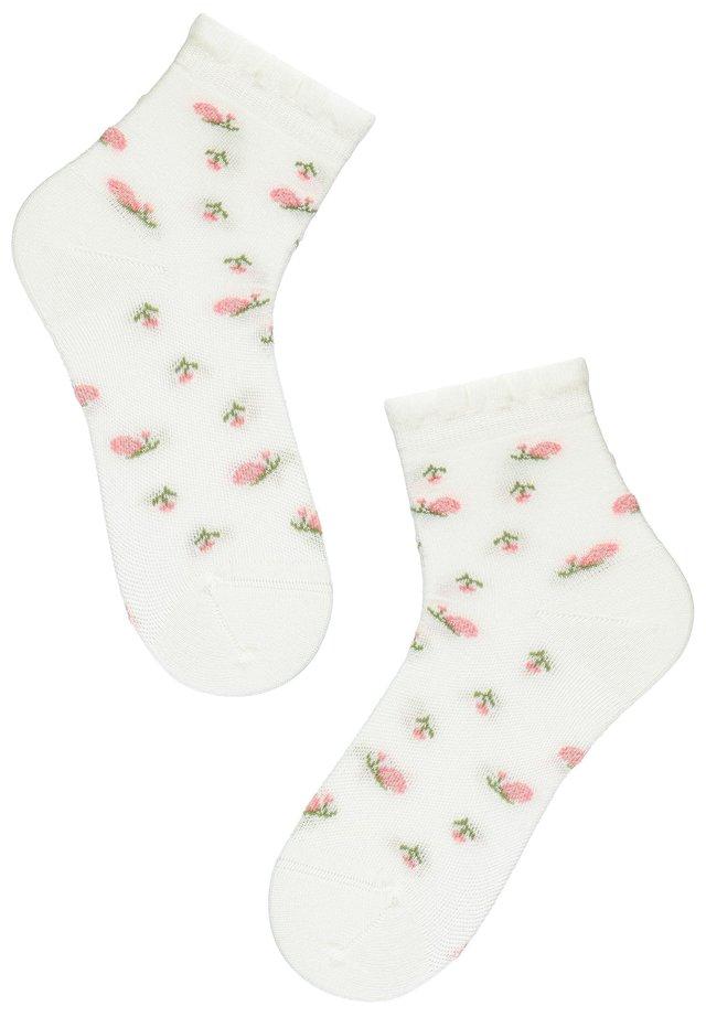 Trainer socks - ciliegie nero