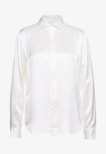 Button-down blouse - trophy cream