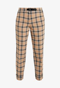 Trousers - tan patterned