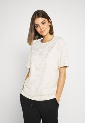 TEE ICON CLASH - T-shirt imprimé - light orewood