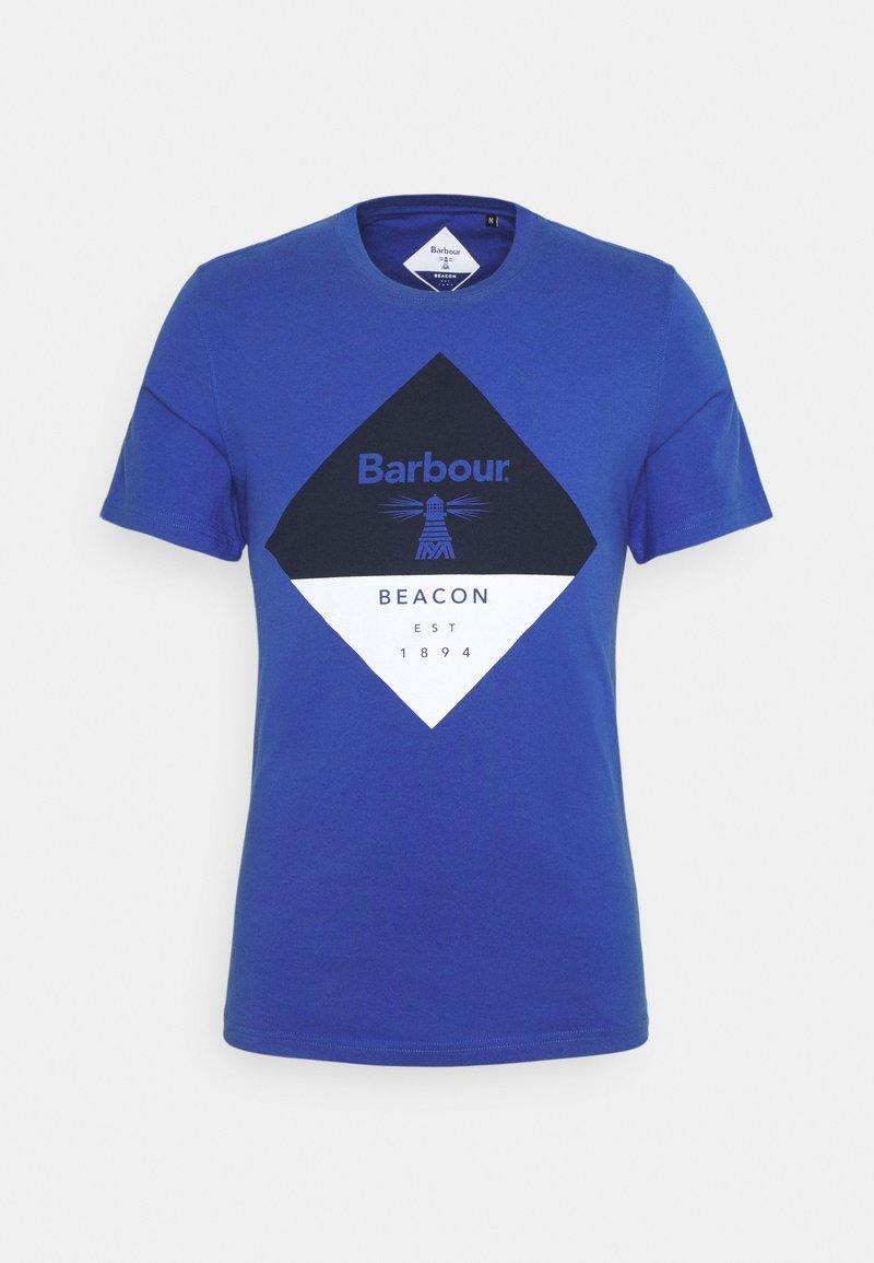 Barbour Beacon - DIAMOND TEE - T-shirt med print - atlantic blue
