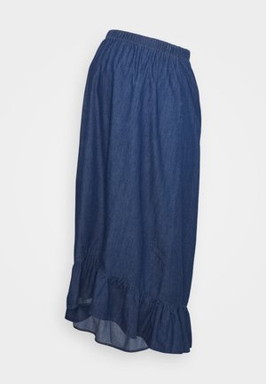 MLLIBERTY HIGH LOW SKIRT - A-linjainen hame - medium blue denim