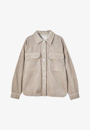 MIT TASCHEN VORNE - Button-down blouse - beige