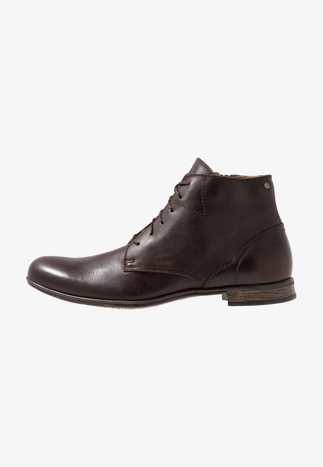 DIRTY MID - Botines con cordones - brown
