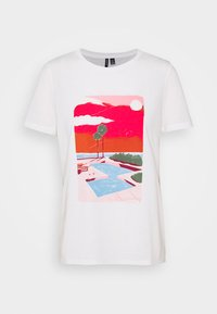 VMTRISHOLLY  - T-Shirt print - snow white