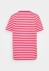 Calvin Klein - LOGO STRIPE - Print T-shirt - red glare/bright white - 1