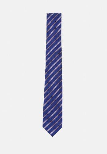 Cravatta - dark blue/bordeaux/white