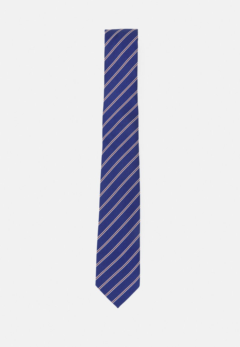 Pier One - Cravatta - dark blue/bordeaux/white