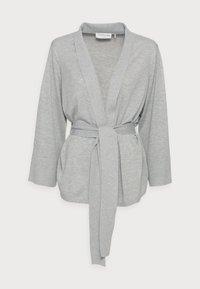 KIMONO CARDIGAN - Cardigan - light grey melange