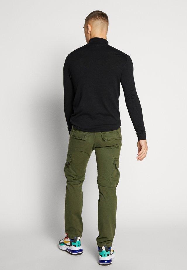 Pantalon cargo - dark oliv
