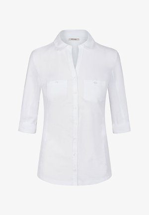 TAILLIERTES - Button-down blouse - weiß