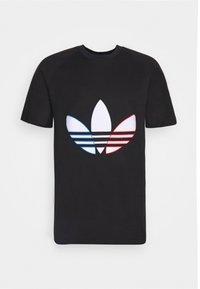 adidas Originals - TRICOL TEE UNISEX - T-shirts print - black - 3