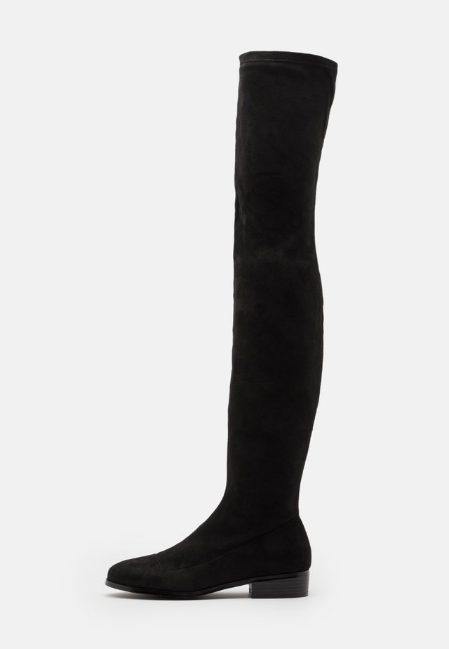 FLAT BOOT - Cuissardes - black