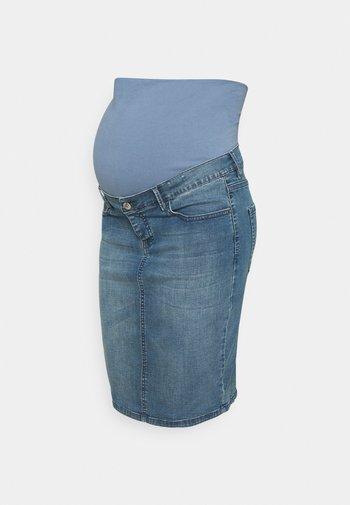 ERIE - Spódnica jeansowa - aged blue