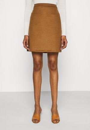 SKIRTS WOVEN - Mini skirt - toffee