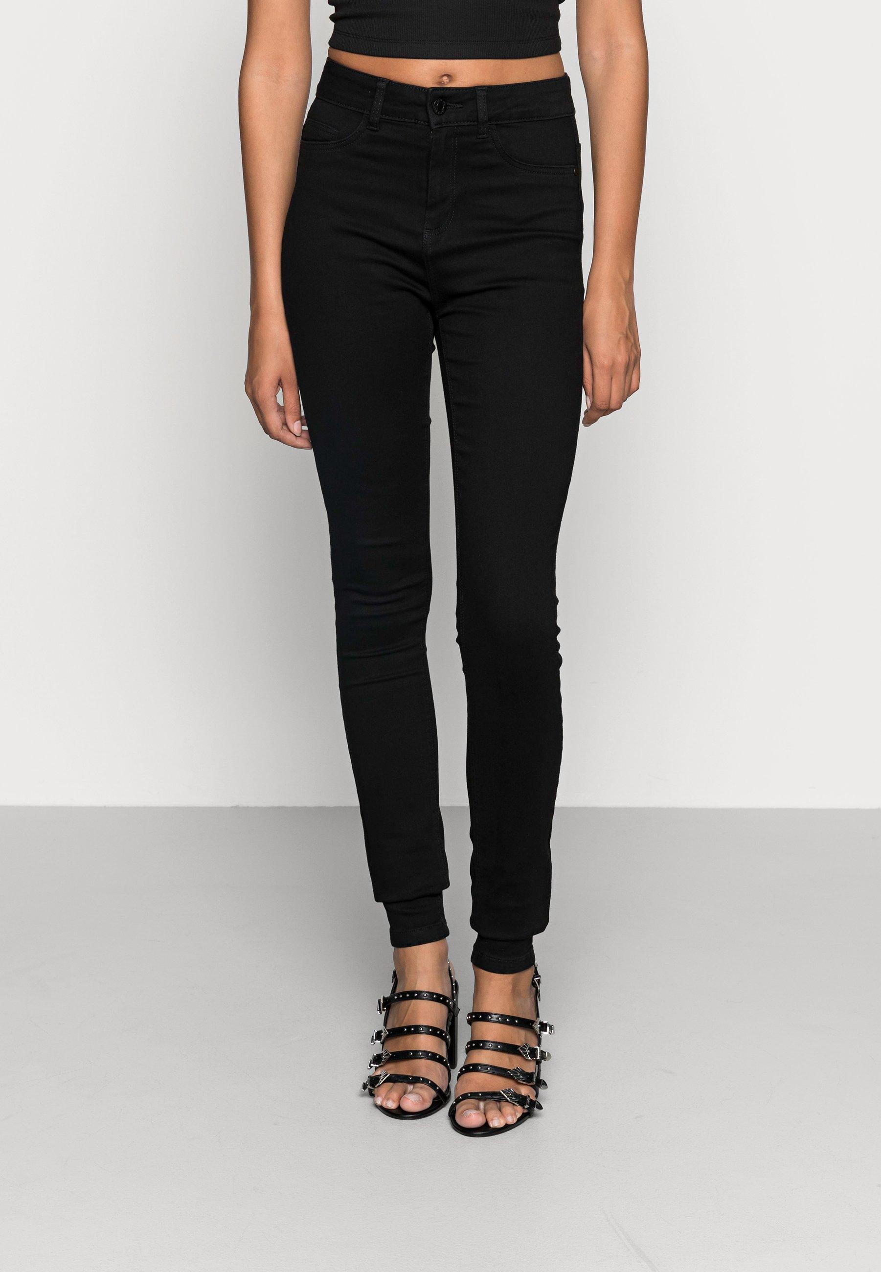 Women NMCALLIE  HW SKINNY JEANS VI023BL N - Jeans Skinny Fit