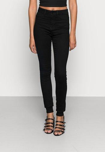 NMCALLIE  HW SKINNY JEANS VI023BL N - Jeans Skinny Fit - black denim